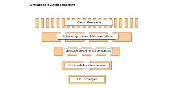 Jerarquía de la ventaja competitiva