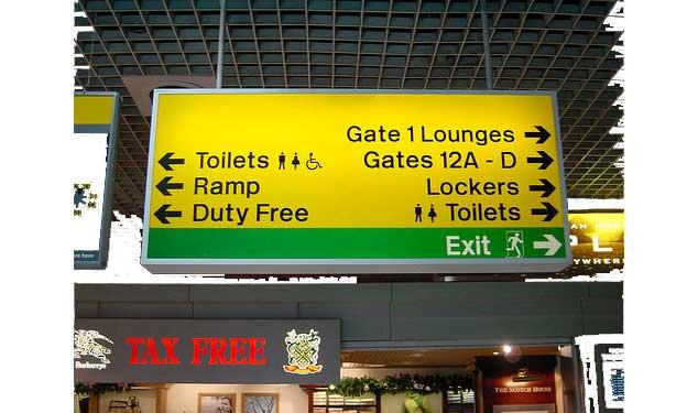 Señalética de aeropuerto