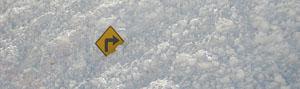 viraje en la nieve